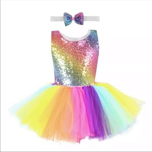 Jojo Siwa Rainbow Sequence Tulle Costume